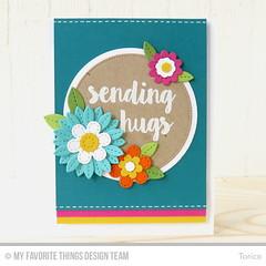 Sending Hugs (Torico27) Tags: mft mftstamps myfavoritethings flowers circle hugs stitch dienamics