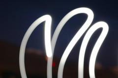 Lights in the night (isidoremaraboutis) Tags: lighttrail lightrail light night blurry greece paros