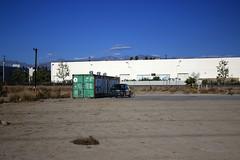 hideout (Dill Pixels (THE ORIGINAL)) Tags: losangeles california dumpster empty yard lot building car cloud sky
