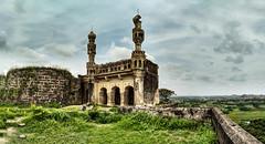 Elgandal Fort (ujjal dey) Tags: ujjaldey ujjal elgandalfort karimnagar telangana minar roof top stitched panorama microsoftice sky clouds