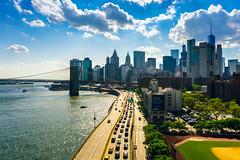 Downtown Manhattan (Arutemu) Tags: downtown manhattan brooklyn brooklynbridge summer sigmasuperwideii24mmf28 newyorkcity newyork nuevayork lowermanhattan downtownmanhattan scene scenic unitedstates ilcea7r panorama