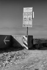 Beach Regulations (autobahn66.com) Tags: black white newtopographics ocean pacific beach sand sandiego sun shadow minimalism minimalist geometry