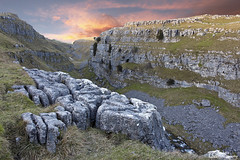 [Explored] Gorge of Gordale Beck above Gordale Scar, Malham, Yorkshire Dales National Park. UK (Wend's photography) Tags: gorge gordale beck yorkshire yorkshiredales yorks northyorkshire dales england uk mountains rocks limestone pavement sunset river landscape photography scenery unitedkingdom evening malham