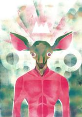... (rodrigo okuyama) Tags: estencil stencil veado deer king