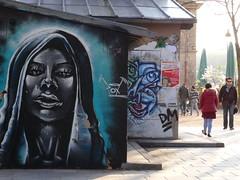Paris, bords du canal de l'Ourcq (Jeanne Menjoulet) Tags: pox streetart campdestravailleurs lo lutteouvrière affiche canaldelourcq paris blackwoman graffitis