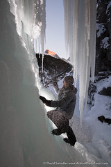 Ice Climb (David Swindler (ActionPhotoTours.com)) Tags: banff canada canadianrockies pantherfalls ice iceclimb icicles