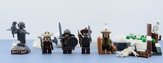 The winter vinkings (Alex THELEGOFAN) Tags: lego legography minifigures minifigure minifig minifigs minifigurine viking vikings bread bag chapka sword dwarf shield owl tree snow skeleton bow arrow beard keep out statue rock bird white gray mountain