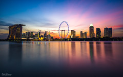 Vibrance (hak87) Tags: singapore marina bay gardens by east mbs flyer sands skyline sunset city long exposure