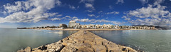 Panoramica Sitges (Jose Gimenez Fotografa) Tags: panorama paisajes panoramica sitges nikonphotographers d750 blue sea sky seascape village barcelona catalunya catalunyaexperience nature naturaleza nationalgeographic natgeophotos natgeoimages onlythebestofnature rocas rocks playa travel clouds nubes water waterscapes