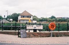 Seal Spotting - Sandwich, Kent (jcbkk1956) Tags: 45mmf28 rokkor sandwich kent quayside sign minoltaa5 minolta rangefinder agfa200 analog film riverstour tourism
