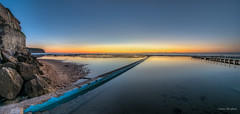 First light of dawn (JustAddVignette) Tags: australia early firstlight landscapes newsouthwales northnarrabeen northnarrabeenrockpool northernbeaches ocean panorama rockpool rocks seascape seawater sky sydney water waves