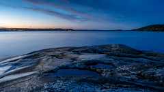 Blue (Jens Haggren (mostly off)) Tags: olympus em1 sea seascape water rocks sky clouds landscape blue colours longexposure nacka sweden