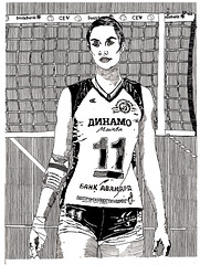 | Ekaterina Gamova (stiobhard) Tags: stiobhard olympics sports london markers drawing portrait bw black white illustration athletes ink pen art hatching russia women competition blackandwhite monochrome olympicathlete tall medalist dinamomoskva volleyball cyrillic text riodejaineiro 2016 tallestpeople proportions 205m 6ft812in people indoor court net game ssp ekaterina gamova yekaterina   ekaterinagamova celebrities volei years year progress whiteborder  impressive