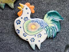 Stoneware plaques by Barbara Haddad, Catfish Corner (marketkim) Tags: product eugene oregon saturdaymarket festival artfair eugenesaturdaymarket artfestival