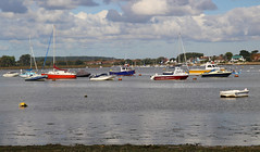 Small boats:  23.9.16. (VolVal) Tags: dorset bournemouth hengistburyhead smallboats bright water riverview september