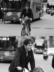 [La Mia Citt][Pedala] con il BikeMi (Urca) Tags: milano italia 2016 bicicletta pedalare ciclista ritrattostradale portrait dittico bike bicycle biancoenero blackandwhite bn bw 89121 bikemi bikesharing
