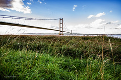 humber bridge 4 (pallen1761) Tags: humber bridge grass sigma wide angle 1020 pentax k5 mark2 lincolnshire sky green barton