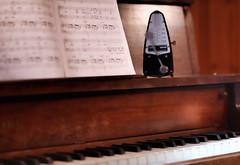 Metronome Keeps Precision Beat (TuthFaree) Tags: elements piano keys ebonyandivory time music metronome walnut wood stilllife precision flickrfriday