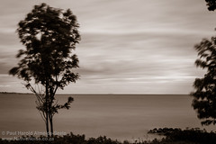 Long exposure across the sea between Denmark and Sweden