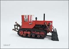 Updated three point  hitch for DT-75 (Jakeof_) Tags: dt75 dt 75 farm tractor moc crawler lego