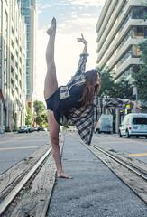 The Urban Movement (Kpryor23) Tags: dance ballet ballerina art urban tracks buildings city movement grace people street streetphotography tampa florida woman environment composition lighting