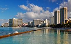 Glimmerglass (jcc55883) Tags: ocean sky clouds hawaii nikon waikiki oahu queens pacificocean canoes walls waikikibeach royalhawaiian moanasurfrider yabbadabbadoo d40 sheratonwaikiki kuhiobeachpark kapahulugroin nikond40 waikikishoreline