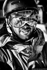 Pato BW ( YariGhidone ) Tags: blue light sky people ski macro sport lens photo nikon ranger action flash extreme pato micro 28 105 nikkor jibbing jib rx elinchrom yari strobist praly prali d700 ghidone wwwyarighidonecom yarighidone