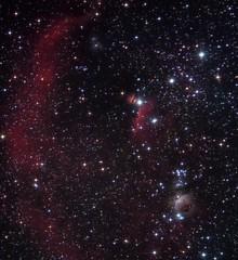 Orion's Nebulas (Chuck Manges) Tags: sky horse night canon stars star mare space ngc telescope galaxy nebula astrophotography orion m42 astronomy t3 dslr messier ngc2024 horsehead cf deepspace 1100 refractor m43 102mm deepsky apochromatic trapezium nebulosity m78 dslrastrophotography Astrometrydotnet:status=solved Astrometrydotnet:version=14400 canont3 qhy9m ed102t startools germanequatorial Astrometrydotnet:id=alpha20121270071421