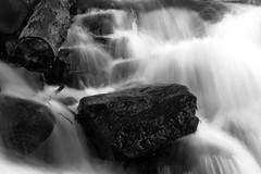 Roca (Magu Diaz del Rio) Tags: ro agua bn roca larga exposicin