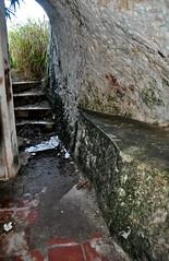 CREAM AND CHAMPAGNE (Darkroom Daze) Tags: abandoned stair ruin stairway step northshore bermuda spanishpoint admiraltyhouse admiraltyhousepark pembrokeparish admiraltyhouseballroom