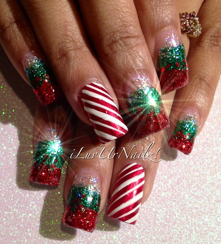 ChristmasGlitter Nails!