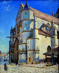 Alfred Sisley - L'eglise de Moret au soleil du matin, 1893 at Kunstmuseum Winterthur Switzerland (mbell1975) Tags: art museum painting de french schweiz switzerland soleil gallery museu suisse au arts du musée musee m impressionism alfred museo schweizer impression sisley impressionist muzeum 1893 matin finearts winterthur leglise moret kunstmuseum müze museumuseum
