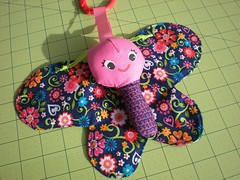 Baby Crinkly Butterfly (xperimentl) Tags: butterfly rattle babytoy babybutterfly handmadebabytoy