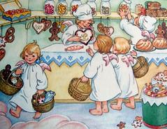 Kerstengelen / Christmas Angels (7) (dietmut) Tags: christmas painting december nederland schilderij angels sonycybershot 2012 engelen kerstmis schilderen kerst illustraties prenten sonydsct200 hannahelwig dietmut kerstprenten yourfavorites69