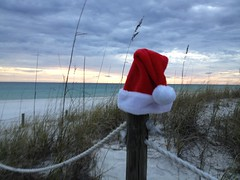 Santa at the beach (beachkat1) Tags: christmas beach florida pcb santahat panamacitybeach lagunabeach uploaded:by=flickrmobile flickriosapp:filter=nofilter