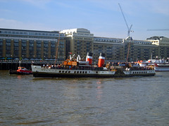 paddle steamer waverely /7/10/2012/ (philip bisset) Tags: st docks unitedkingdom pooloflondon riverthames katharine greaterlondon paddlesteamerwaverely