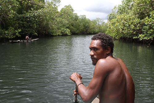 People along the Maramasike Passage in Malaita, Solomon Islands. Photo by Wade Fairley, 2012.