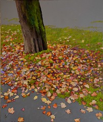 Red Autumn (Irit Levy - Mainly art) Tags: tree leaves painting acrylic iritlevy
