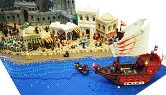CCCX Ras-al-Jabar (Fianat) Tags: world ocean road city sea brick castle beach rock japan set way landscape boat town seaside sand junk flickr ship lego fort ninja pirates contest x medieval fantasy land knight cave orient colossal entry 2012 minifigure cccx 2013 eurobricks rasaljabar