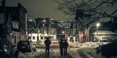At The End of The Day (Ryan Tir) Tags: street city people snow toronto night dark walking photography market snowy walk kensington