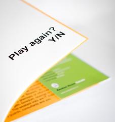 Week 52: Play Again? (jbone66 (Jay B)) Tags: canon book quote caption 2012 douglascoupland redo jpod week52 playagain weekofdecember23 522012 52weeksthe2012edition