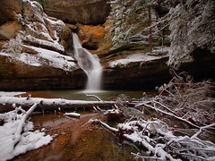 Everything Points To The Falls (Bill Fultz) Tags: snow waterfall cedarfalls hockinghillsstatepark ohiostatepark