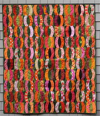 A Quilt of O's (opal c) Tags: pink orange quilt curves os scraps bedquilt