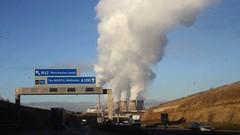 APPROACHING FERRYBRIDGE 2 (Gary McQuiggin) Tags: industry motorway smoke roadtrip steam roadsigns a1 powerstation a1m ferrybridge ferrybridgepowerstation