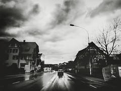 On The Road (Yves Roy) Tags: street city shadow urban blackandwhite bw black contrast dark austria blackwhite interestingness interesting raw moody darkness noiretblanc 28mm snap fav20 gloom yr enigmatic fav10 ricohgrd grdiii bureboke yvesroy yrphotography