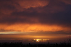Unedited sunrise (Fosseyh) Tags: morning pink winter light sky orange sun nature beautiful sunshine clouds sunrise canon colours view purple january noedit unedited skyporn canon7d