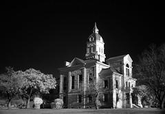 Bandera Courthouse (KeithAlanK) Tags: bw ir bandera infrared courthouse f828
