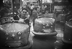 Dodgems......... (colinfpickett) Tags: people cars fun seaside fairground fair resort dodgem the1960s