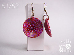 51/52 (Art Studio Katherine) Tags: charity love serbia joy polymerclay help earrings nena subotica srbija nevenkasabo ankehumpert 52pairsofearrings