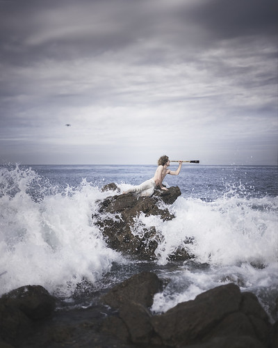 Searching for Sirens (Brad.Wagner) ocean water search waves telescope splash mythology siren bradwagner lafg2013